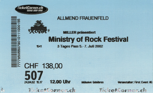Ticket Ministry of Rock (3 Tagespass) (77KB)