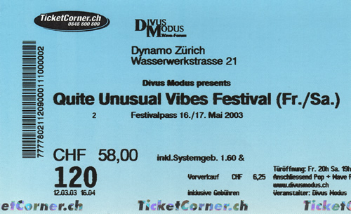 Ticket Quite Unusual Vibes (2 Tagespass) (80KB)