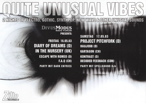 Flyer Quite Unusual Vibes (77KB)