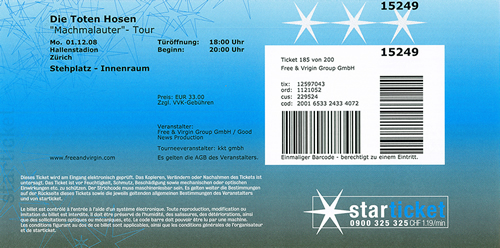 Ticket Die Toten Hosen (146KB)
